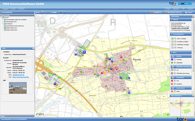 Screenshot OK.GIS Points of Interest